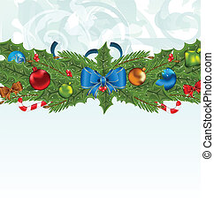 Christmas background with holiday decoration