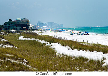 panama city florida beach access - white sand on the florida...