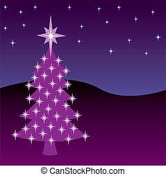 Christmas Night Tree