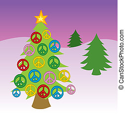 Peace Sign Christmas Tree