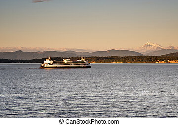Ferry - WA state ferry from the San Juan islands to...