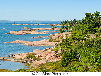 Rocky islands in Georgian Bay - Rocky islands in georgian...