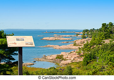 Rocky islands in georgian Bay - Information on a Georgian...