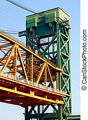 Lift bridge structure in Burlington, Ontario