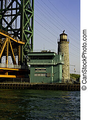 Lift bridge structure at Burlington Canal in Ontario