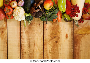 Frame of Fruits and Autumn Yield - Frame New Harvest Autumn...