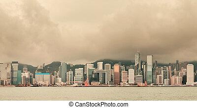 Hong Kong city skyline - Urban architecture in Hong Kong...