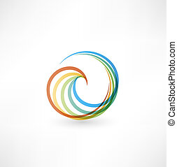 Design elements with spiral motion.