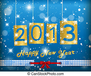 Happy New Year 2013 Blue Greeting Card