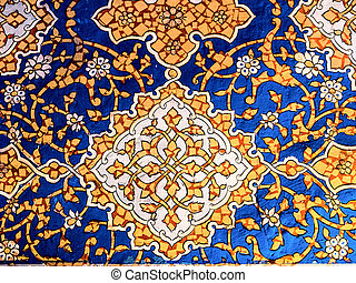 Wall decor in Samarkand.