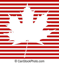Maple Leaf on Stripes