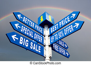 Sale - Big Sale, Better Price and Special Offer Directional...