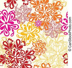 Flower Pattern seamless. Vector on white over