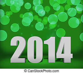 2014 Green New Year Background Stage
