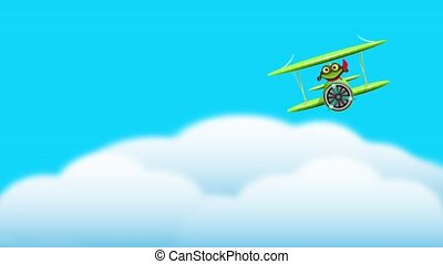 frog pilot - merry green frog pilot in the plane sound...