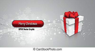 Christmas Banner with Gift Box | EPS10 Vector Background