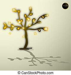 Gold tree - Creative design of gold tree