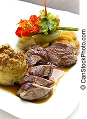 Lamb Filets & Vegetables