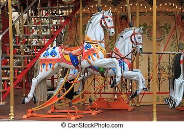 Merry Go Round - Horses on a Merry Go Round