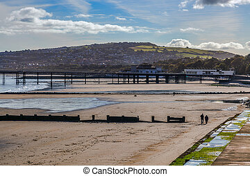 Colwyn Bay shoreline