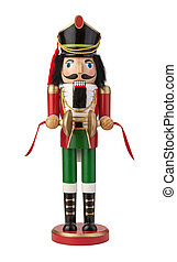 Nutcracker Isolated with clipping path on a white background...