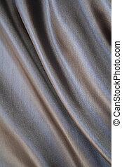 Smooth elegant grey silk as background