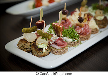 Mixed Canapes - Variety of Canapes