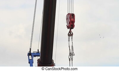 Crane - Large hook of the slewing jib crane