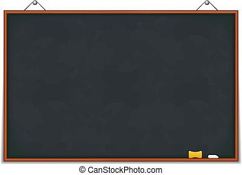 Big horizontal blackboard, vector eps10 illustration