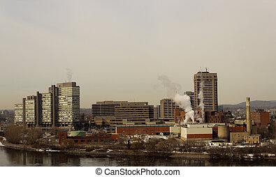 Skyline of Gatineau Hull, Canada