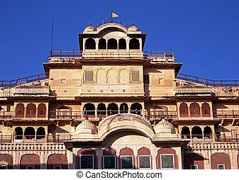 City Palace, Jaipur, India. - Chandra Mahal (City Palace),...