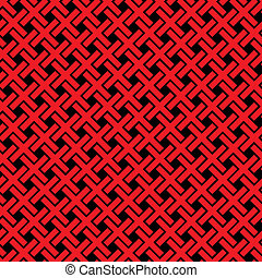 Abstract crosses pattern - vector seamless texture