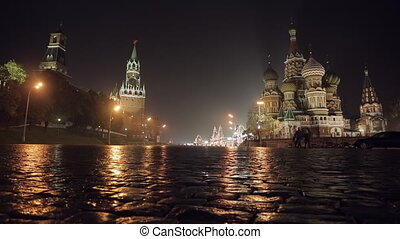 Night Red Square slider - Night Red Square Kremlin St....