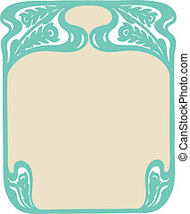 Decorative Art Nouveau Frame - Beautiful decorative floral...