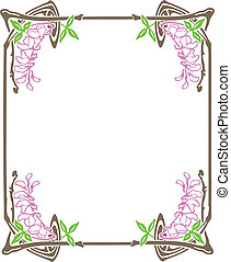 Decorative Art Nouveau Frame