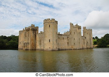 Bodiam Castle, England - The 14th century castle at Bodiam...