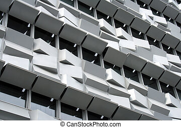Detail of a modern building at Lisbon, Portugal