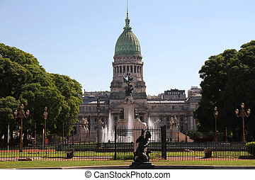 National Congress of Argentina - The Congress building in...