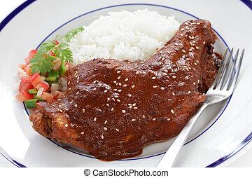 chicken mole - mexican cuisine