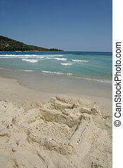 Sand Castle - Sand castle on the Golden Beach Thassos Greece