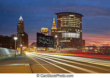 Cleveland. - Image of Cleveland downtown at beautiful...
