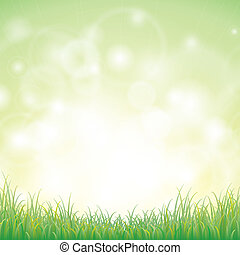 Green grass with background