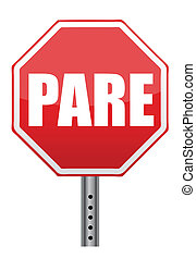 Spanish stop sign illustration