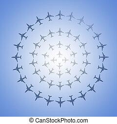 Aircraft mosaic