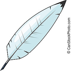 Cartoon feather for writing