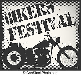 Bikers festival stamp - The vector image of Bikers festival...