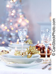 Place setting for Christmas - Place setting with Christmas...