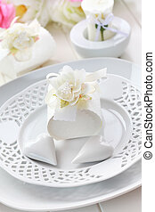 Place setting in white