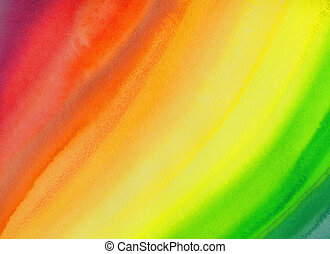 Background - rainbow abstract watercolour painting -...