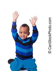 portrait african american little boy